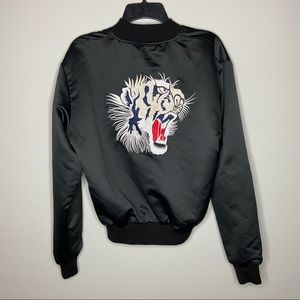 Urban Outfitters Size Large Black Tiger Bomber